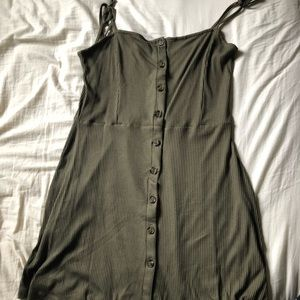 Topshop ribbed button down dress